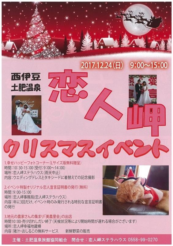 西伊豆土肥温泉 恋人岬クリスマスイベント